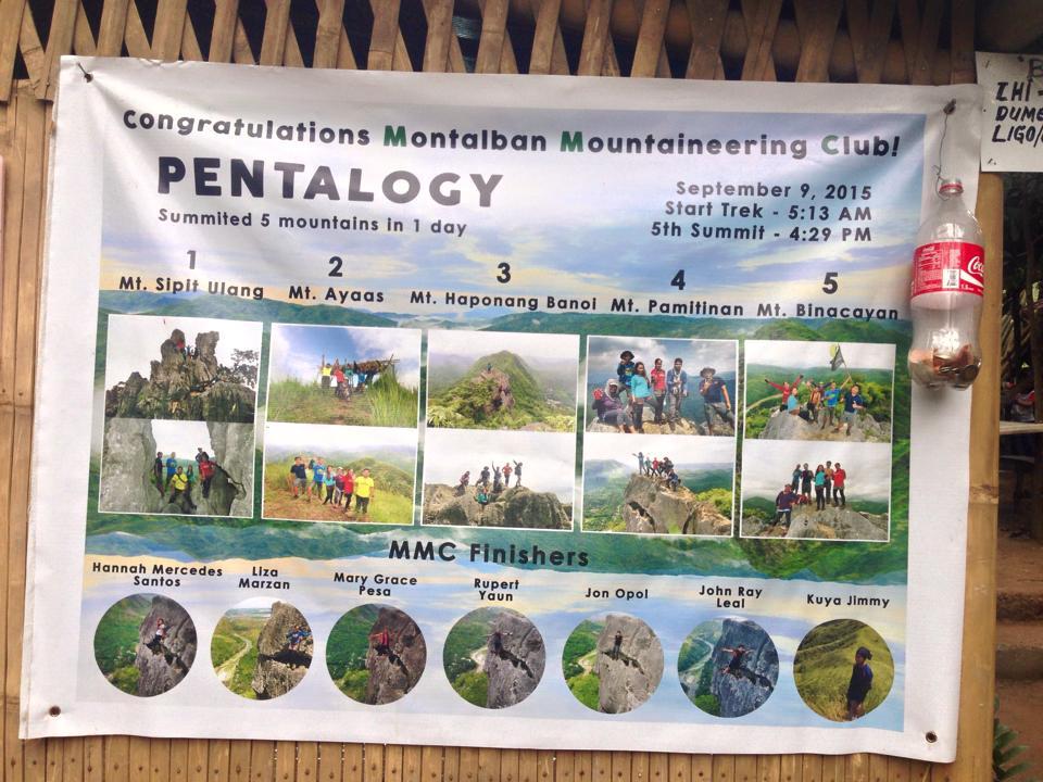 Mt. Pamitinan Dayhike Itinerary