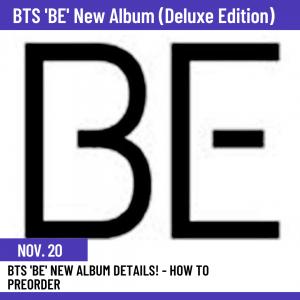 BTS 'BE' pre order