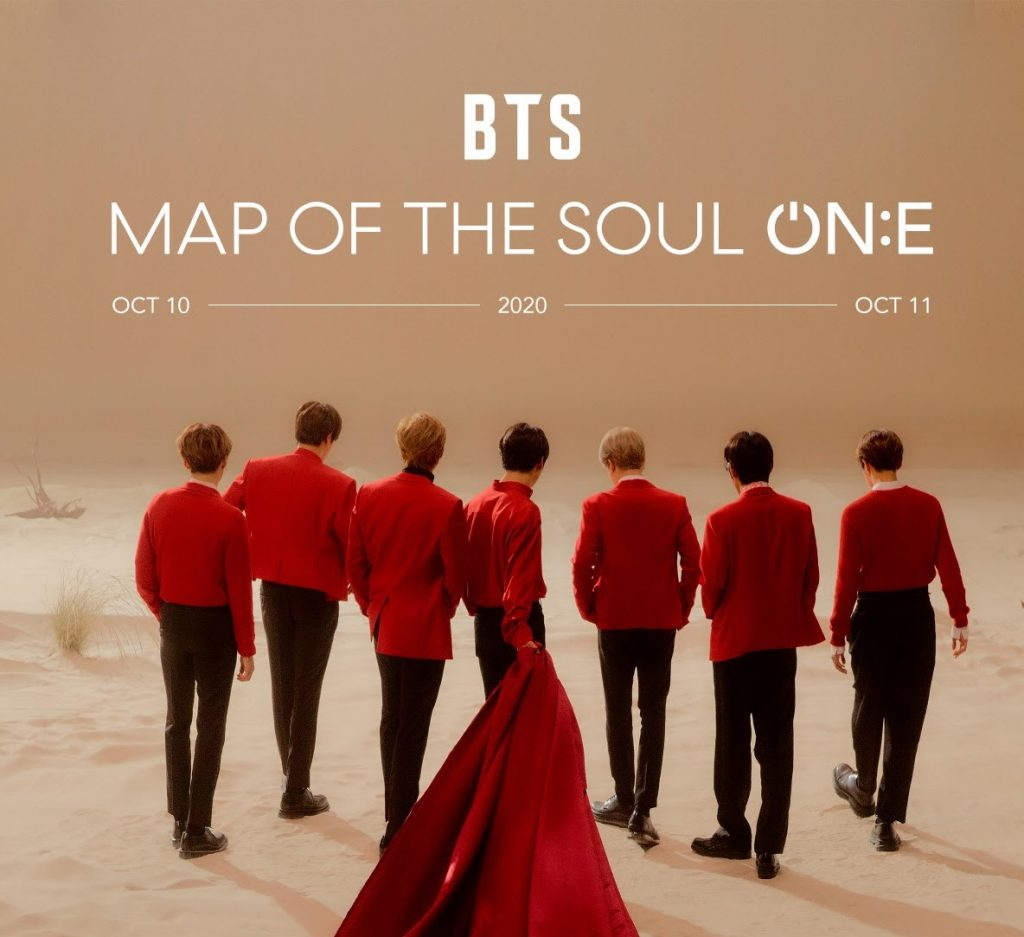 BTS Map Of The Soul ON:E Online Concert Tickets Info